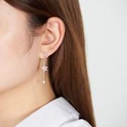 미니 벚꽃 드롭 귀걸이