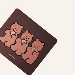 [뮤즈무드] cookie bear mouse pad