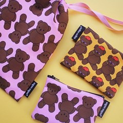 Teddy bear string pouch m