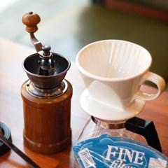 [알럽커피] 커피세콩 핸드드립세트(도자기+필터+유리서버+핸드밀)