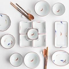 일본 아리타 토우가라시 공기 대접 접시 모음전 9타입_(1290092)