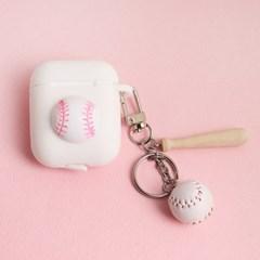 야구공 에어팟 케이스 키링