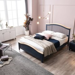 SB187-Q 프랜치 시리즈 원목 퀸 침대+bedis 매트리스 101 Q set