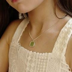 silver square ball necklace