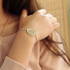 silver oval ball bracelet