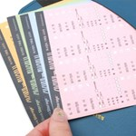 독서정보 기록용 스티커 ver.2 (4ea/SET)