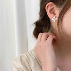 [귀찌 가능] 화이트 봄꽃 셀프 웨딩 귀걸이