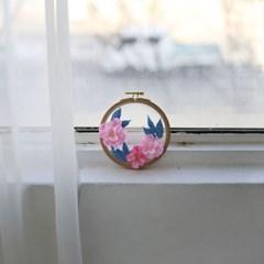 사계절 꽃자수 소품 만들기 - 봄 벚꽃 투명자수액자 DIY KIT