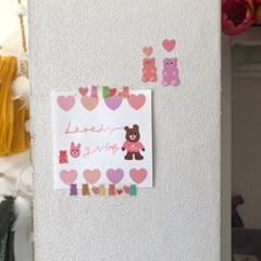 러브이즈기빙 8 mini heart 메모지