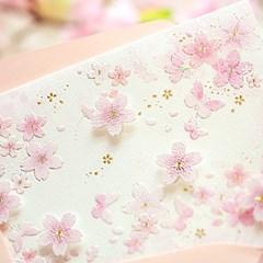 디원 연분홍 벚꽃2단카드 (YD22)