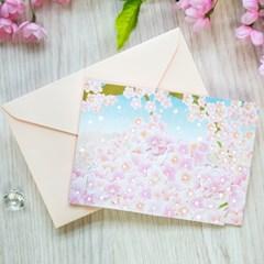 디원 벚꽃 팝업카드 (JD13)