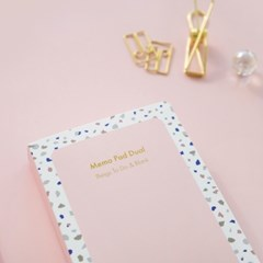 Memo Pad Dual (Stone) Set of 2