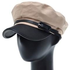 [더그레이]PKC01.배색챙 린넨 여성 군모 마린 모자