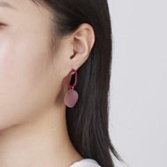 드로잉 오벌 동그라미 귀걸이