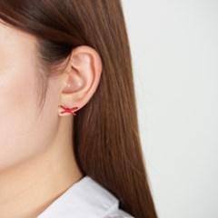 컬러 미니 리본 귀걸이
