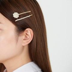 진주꽃 진주라인 머리핀세트