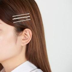 진주 골드 큐빅라인 머리핀세트