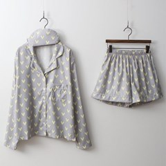 Heart PJ Set - 안대포함