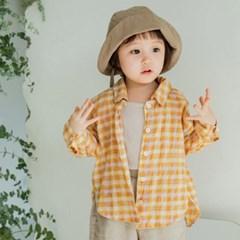체크빈티지 아동 셔츠