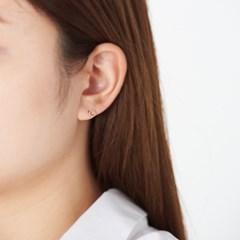 라운드 큐빅 4set 귀걸이