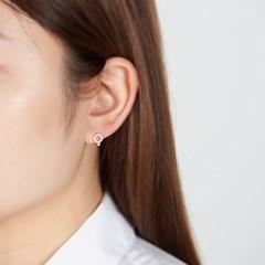 심플 라운드 진주 귀걸이