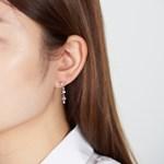 퍼플 포인트 나비 언발 귀걸이