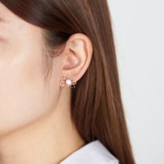 큐빅 해바라기 귀걸이