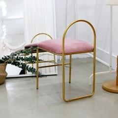 엔(n) 골드체어 - 화장대의자 카페의자 보조의자