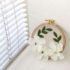 포시즌가든 투명자수 시리즈 KIT - 치자꽃 Gardenia