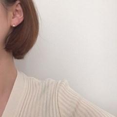 [큐빅 피어싱 원터치 귀걸이] 멜로우 이어링