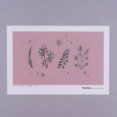 겨울 잎사귀 인테리어용 엽서