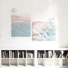 캔버스 하늘 풍경 인테리어 그림 카페 액자 구름