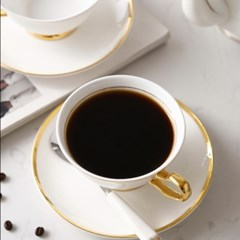 골드라인 화이트 커피잔