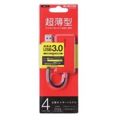 4포트 컴팩트 USB 3.0 허브 레드_(891864)