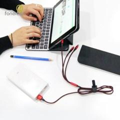 3in1 멀티충전 8핀 5핀 C타입 나일론 USB케이블 충전케이블