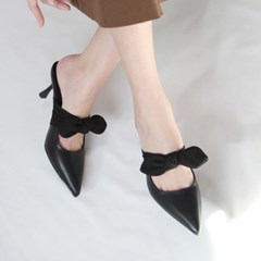 kami et muse Tied ribbon heel slippers_KM19s078