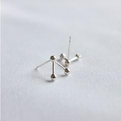 Silver line ball earring (실버 라인볼 귀걸이) [92.5 silver]