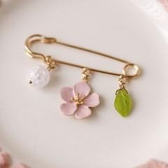 [우아한 공방] 벚꽃, 이토록 사랑스러운 봄날 브로치(small)