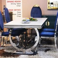 1.6m 상판세라믹 6인식탁테이블 판테온블루(의자별매)