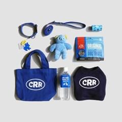 CRR 크롭 스웻셔츠 네이비