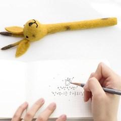 기린 펠트 연필