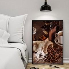 패브릭 포스터 거실 카페 인테리어 그림 액자 커피콩
