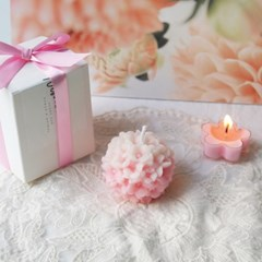 [Pink Blossom Candle] 핑크블러썸 수국 밀랍초