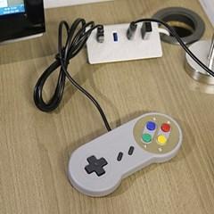 SFC 슈퍼패미콤 게임 컨트롤러 USB단자 PC 연결 패드