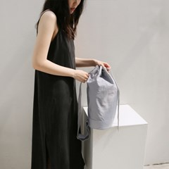 monochrome shoulder bag _ gray