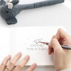 코끼리 펠트 연필
