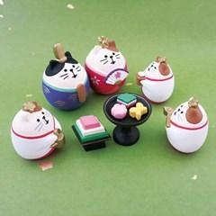 [데꼴] 미니어쳐 인테리어소품/히나마츠리 고양이(370363)