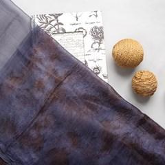 [더로라] 천연염색 울실크 스카프 - 낙엽 천연염색 S9005