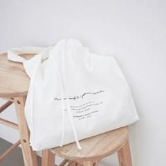 Moments Linen Bag 캘리그라피 린넨백 - White
