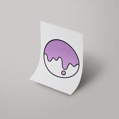 [A3 아트포스터] Signature Logo_ 싱거운 퍼플(Bland Purple)